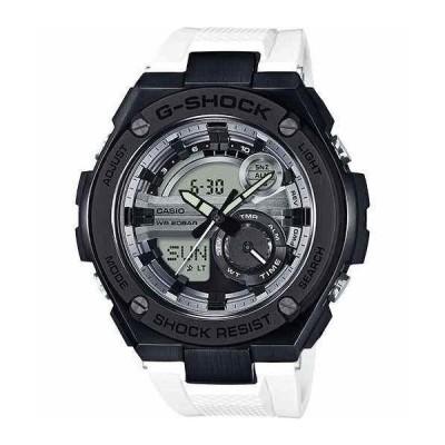 カシオ 腕時計 Casio G-Shock G-Steel 2nd Gen 3D SS IP Bezel White ホワイト/Blk Watch GST210B-7A