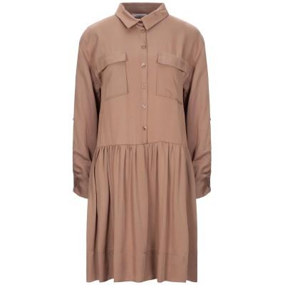 DIXIE ミニワンピース&ドレス カーキ M テンセル 100% ミニワンピース&ドレス