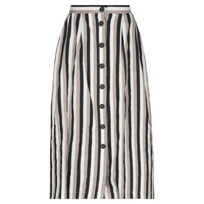 ISA ARFEN 七分丈スカート  レディースファッション  ボトムス  スカート  ロング、マキシ丈スカート ブラック