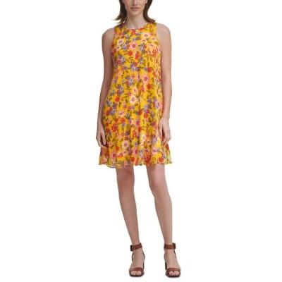 カルバンクライン レディース ワンピース トップス Floral-Print Shift Dress