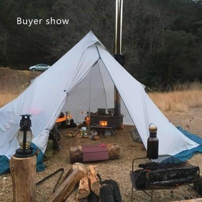 キャンプ テント 超軽量 屋外 キャンプ Silnylon ピラミッド型テント 3-4人用