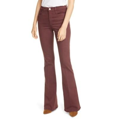 フレーム レディース デニムパンツ ボトムス Le High Flare Jeans BORDEAUX