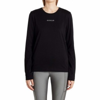 モンクレール MONCLER レディース Tシャツ トップス Logo Embroidered T-Shirt Black