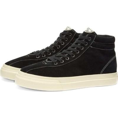 エス ダブリュー シー Stepney Workers Club メンズ スニーカー ハイカット シューズ・靴 varden suede high sneaker Black