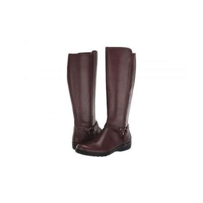 Clarks クラークス レディース 女性用 シューズ 靴 ブーツ ロングブーツ Cheyn Lindie - Dark Brown Leather/Synthetic Combi