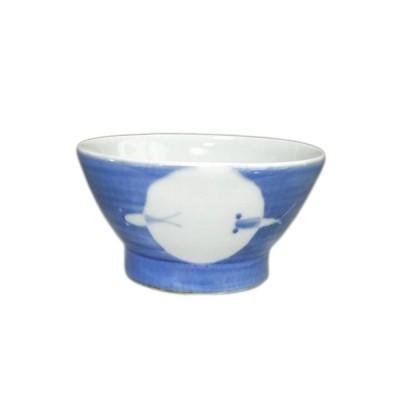 砥部焼 陶房拓実(山中窯)ごはん茶碗(丸抜きメダカ)