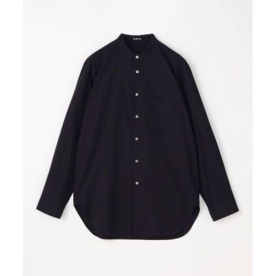 TOMORROWLAND/トゥモローランド ヴィンテージコットン バンドカラーシャツ 19 ブラック 46