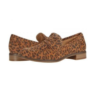 Clarks クラークス レディース 女性用 シューズ 靴 ローファー ボートシューズ Trish Rose - Dark Tan Leopard Print Suede
