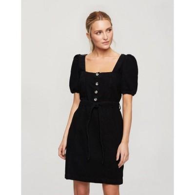 ミスセルフリッジ ミディドレス レディース Miss Selfridge mini dress with puff sleeves in black エイソス ASOS ブラック 黒