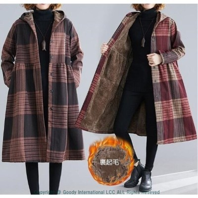 コート レディース キルティングコート アウター 裏起毛 裏ボア フード 暖かい 体型カバー 大きいサイズ 60代 50代 40代