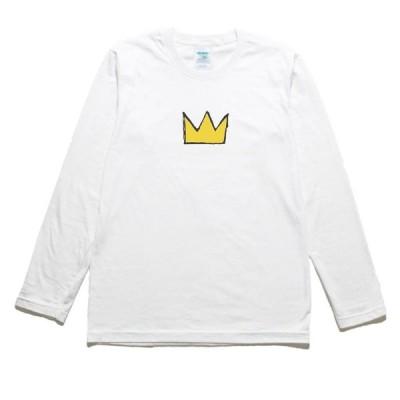 王冠 デザイン・アート 長袖Tシャツ ロングスリーブ