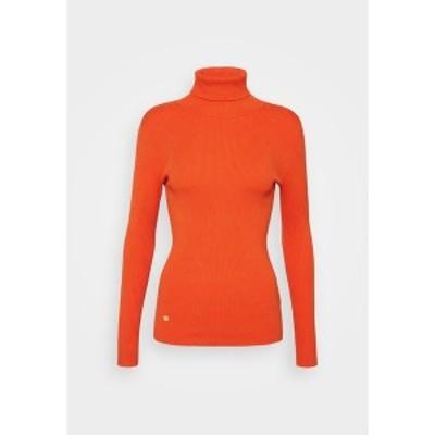 ラルフローレン レディース ニット&セーター アウター TURTLE NECK - Jumper - dusk orange dusk orange