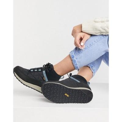 テバ Teva レディース ブーツ シューズ・靴 Quilted Boots In Black And Grey ブラック/グレー