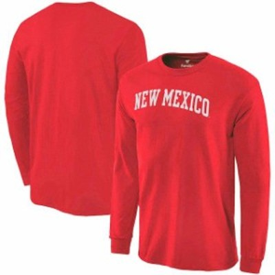 Fanatics Branded ファナティクス ブランド スポーツ用品  Fanatics Branded New Mexico Lobos Red Basic Arch Long Sl