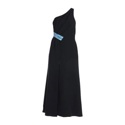 ジョルジオ アルマーニ GIORGIO ARMANI ロングワンピース&ドレス ブラック 44 シルク 100% ロングワンピース&ドレス