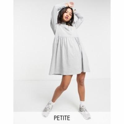 ブレイブソウル Brave Soul Petite レディース ワンピース ワンピース・ドレス Lizzie High Neck Smock Dress In Grey グレー