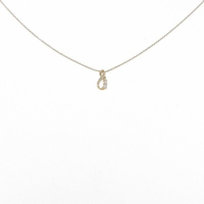 K18YG スリーストーン ダイヤモンドネックレス