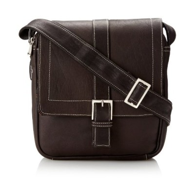 David King & Co. Deluxe Medium Messenger with Buckle, Cafe, One Size並行輸入品