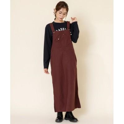【コーエン】 ワークサロペットスカート#(ジャンパースカート) レディース WINE MEDIUM coen