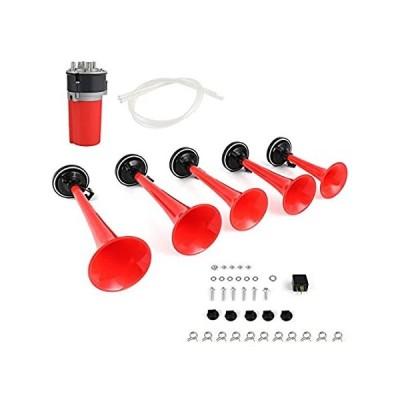 送料無料 cciyu 125db Air Horn 12V 5 Trumpet Musical Dukes Hazzard Horn Kit Compresso