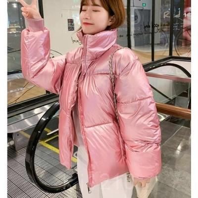 中綿コートレディース中綿ジャケット冬アウター防寒コートジャンパーショート丈暖かい綿入れ冬着韓国ファション5色
