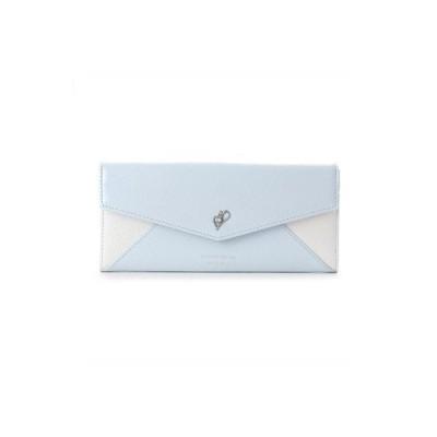 サマンサタバサ 長財布 ビジューシリーズ かぶせ ライトブルー SamanthaThavasaPetitChoice ラッピング無料