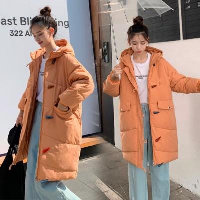 お出かけ 旅行 フォーマル 通勤 OL オフィス ロングコート 厚手 ダウンジャケット 体型カバー上着 中綿コート フード付き ダウンコート 韓国風 アウター 防寒服