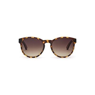 TAKE A SHOT 〓 big oval female vintage sunglasses for girls, wooden temples, uv-protection, anti reflection lenses, tortoise shiney frame - DUCHESS