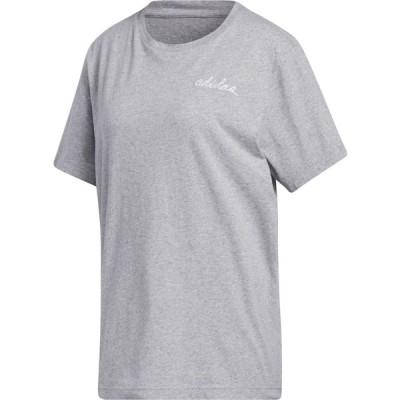 アディダス adidas レディース Tシャツ トップス adiScript Boyfriend T-Shirt MGH