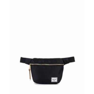ハーシェルサプライ レディース ボディバッグ・ウエストポーチ バッグ Fifteen Belt Bag Black/Gold