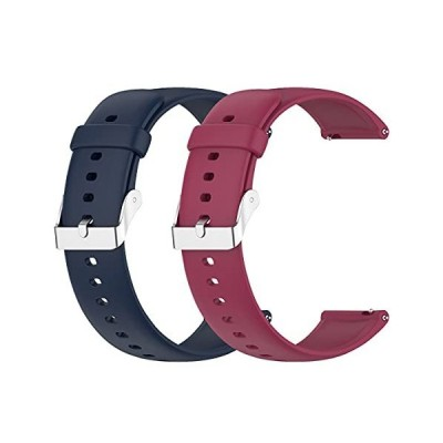 Seltureone 【2本】Huawei Watch 3/Huawei Watch 3 pro 用 交換ベルト 柔らかい シリコン素材 耐衝撃 防水