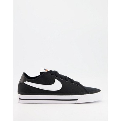 ナイキ レディース スニーカー シューズ Nike Court Legacy Canvas sneakers in black
