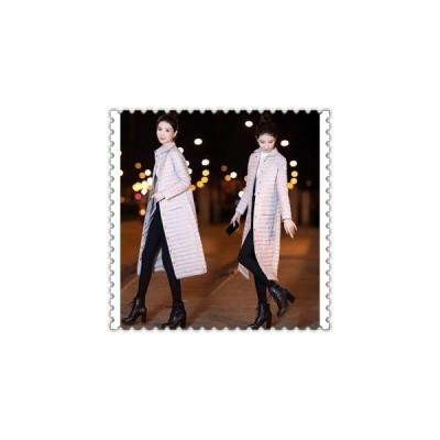 ダウンジャケットレディース軽量ロングコートスリムダウンコートアウター大きいサイズ冬防寒服着痩せ