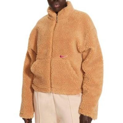 ナイキ レディース ジャケット・ブルゾン アウター Nike Women's Sportswear Swoosh Sherpa Jacket Flax