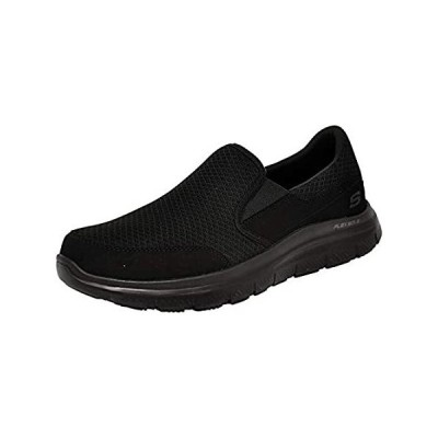 Skechers Men's Black Flex Advantage Slip Resistant Mcallen Slip On - 12 D(M