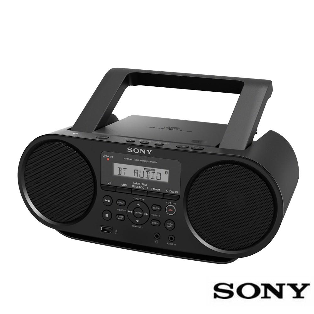 SONY NFC藍牙音樂播放器ZS-RS60BT(送音樂CD+免運費)