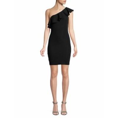 BCBG ジェネレーション レディース ワンピース One-Shoulder Ruffle Jacquard Dress