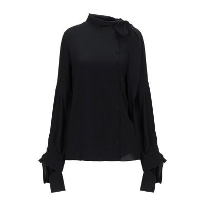 ヌメロ ヴェントゥーノ N°21 シャツ ブラック 38 アセテート 69% / シルク 31% シャツ