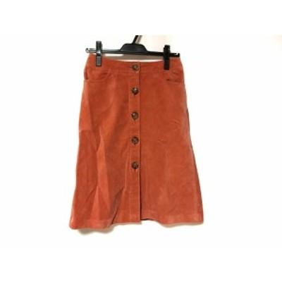 ドゥーズィエム DEUXIEME CLASSE スカート サイズ36 S レディース オレンジ コーデュロイ【中古】20191022