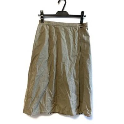 バーバリーズ Burberry's 巻きスカート サイズS レディース カーキ リバーシブル【中古】20210404