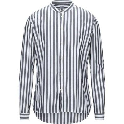 オフィチーナ トレンタ セイ OFFICINA 36 メンズ シャツ トップス striped shirt Black