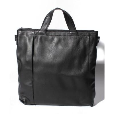 【パトリックステファン】Leather shoulder bag 'grande poche' KS