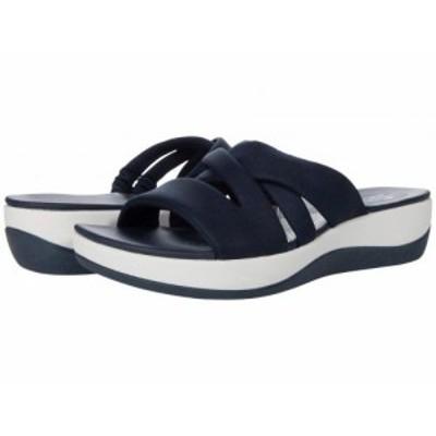 Clarks クラークス レディース 女性用 シューズ 靴 ヒール Arla Rilee Navy Textile【送料無料】