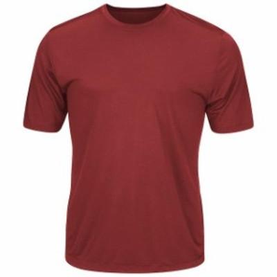 Majestic マジェスティック スポーツ用品  Majestic Youth Maroon Cool Base Evolution T-Shirt