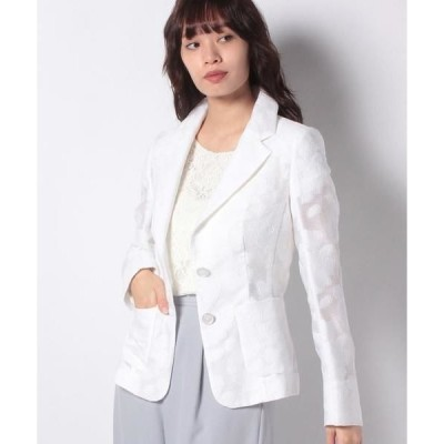 MADAM JOCONDE / マダムジョコンダ フラワー柄カットジャカード テーラードジャケット