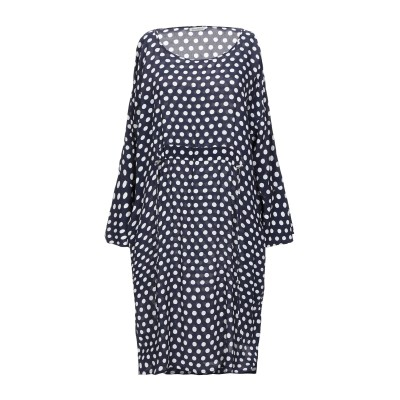 CAMICETTASNOB ミニワンピース&ドレス ダークブルー 46 レーヨン 100% ミニワンピース&ドレス