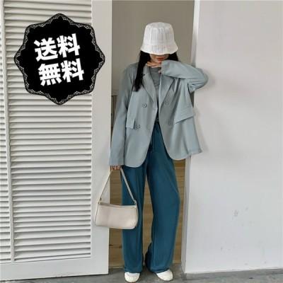 長袖スーツ ジャケット 秋冬 レディース カジュアル
