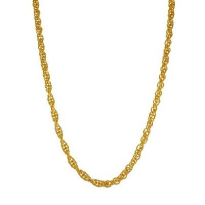 ネックレス blackdia by 7JEWELRY 18KGPゴールドロープチェーンネックレス 幅6.0mm 長さ50cm