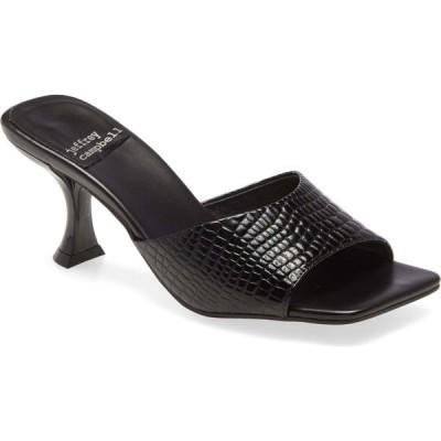 ジェフリー キャンベル JEFFREY CAMPBELL レディース サンダル・ミュール スライドサンダル シューズ・靴 Mr-Big Slide Sandal Black Croco Patent