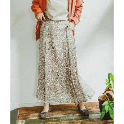 スカート ジャガードプリントスカート
